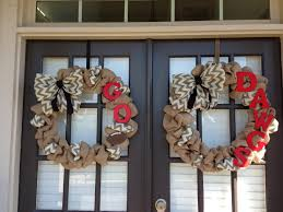 for those of us with double doors neutral color burlap wreath