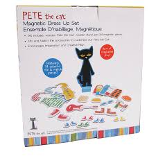 Pete The Cat Clothing Amazon Com Kids Preferred Pete The Cat Wood Magnetic Dress Up Set