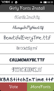 fonts for android the best girly fonts galaxy 1mobile