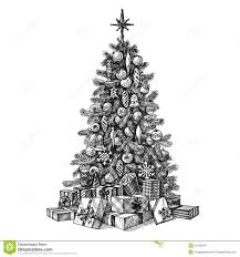 christmas tree white background sketch gifts 51539846 jpg 1300