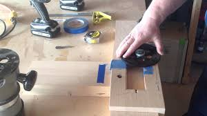 Closet Door Finger Pull by Flush Pull Router Template Youtube