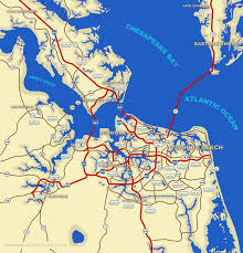 Virginia Map by Virginia Beach Map Travel Map Vacations Travelsfinders Com