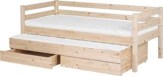 flexa classic single bed w drawers u0026 pull out bed