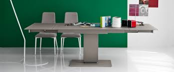calligaris echo pedestal glass extendable dining table toronto