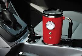 retro heated travel mug sharper image