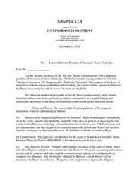 letter of intent to purchase business template best template