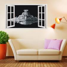 star wars living room extra large star wars 3d spacecraft wall stickers home decor living
