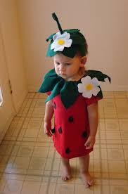 diy strawberry do it yourself baby costume halloween costume