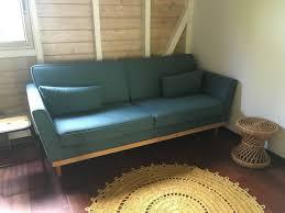 canapé neuf canape vintage 3 places bleu canard neuf annonce meubles et