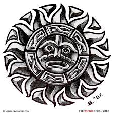 22 best aztec sun tattoos tribal images on pinterest board
