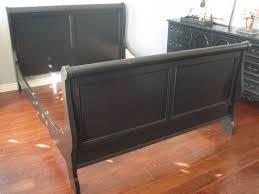 black distressed furniture size sleigh bed in a sleek black