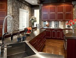 Cherry Wood Kitchen Cabinets With Black Granite 52 Kitchens With Wood Or Black Kitchen Cabinets 2018