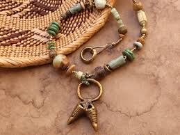 necklace stone beads images African tribal style necklace ancient african and mexican stone jpg