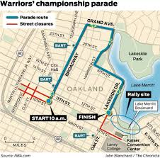 Bart San Francisco Map Oakland Ready To Host Up To 2 Million Fans At Warriors Parade Sfgate