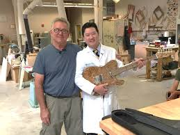 Sutter Health Doctors And Hospitals Woodshop Pioneer Hand Makes Guitar For Rock Star Doctor Who Saved