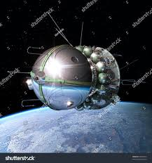 first spaceship earth orbit stock illustration 98505443 shutterstock