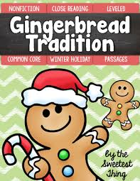 free christmas holiday gingerbread tradition close reading