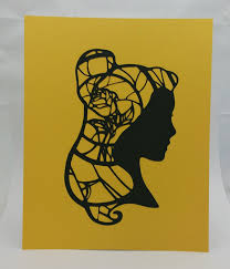 silhouette portrait amazon 2017 black friday belle beauty and the beast inspired cut paper silhouette portrait
