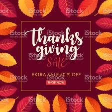 thanksgiving sale square banner vector illustration stock vector