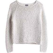 white sweater mtwtfss weekday knit sweater white polyvore