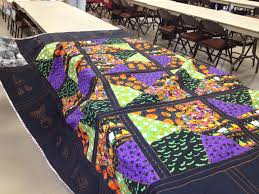 my halloween crazy quilt as you go