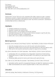 Maintenance Resume Examples by Professional Wind Turbine Technician Templates To Showcase Your