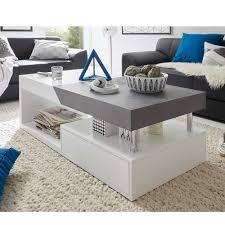 couchtisch wohnzimmer wohnzimmer couchtisch in weiß grau beton optik 120 cm jetzt