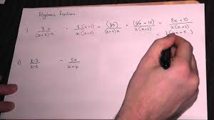 Add And Subtract Fractions Worksheet Adding Algebraic Fractions Gcse And As Maths Revision Youtube
