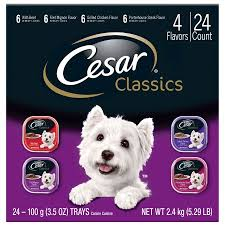 cesar cuisine cesar canine cuisine variety pack food trays 3 5 ounces pack