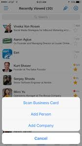 Scan Business Cards Android Nimble Adds Business Card Scanner And Email Signature Capture
