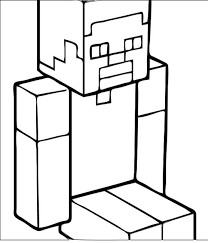 minecraft steve minecraft coloring pages