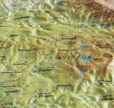 Pyrenees Mountains Map Raised Relief Map Of The Pyrenees National Park As 3d Map