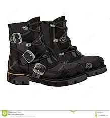 s boots with buckles s boots genuine leather metal buckles royalty free