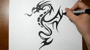 dragon tattoo to draw danielhuscroft com