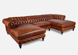 Chesterfield Sofa With Chaise by Classic Chesterfield Leather Collection Cococo Home