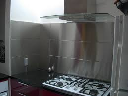 Kitchen With Stainless Steel Backsplash Kitchen Stainless Steel Kitchen Backsplash Panels For Kitchens