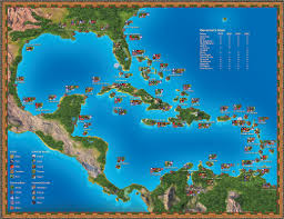 Pirates Of The Caribbean Map by Port Royale U0027 Map By Tyrenzin On Deviantart