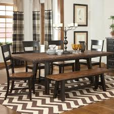 picture of most comfortable dining chairs for your longer dining intercon winchester 6 piece trestle table and ladder back chair set with backless dining bench godby home furnishings dining 5 piece set