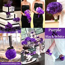 purple and white wedding black and white wedding colors seven glorious combinations