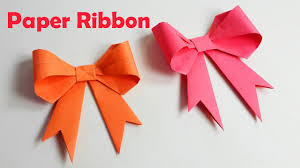 paper ribbon how to make paper ribbon how to fold a paper bow easy origami
