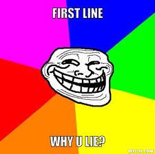 Why U Meme - troll face meme generator first line why u lie c897d7 pramek com