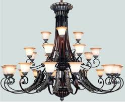 Wrought Iron Home Decor Magnificent Large Wrought Iron Chandelier In Home Decor Ideas With