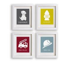 Firefighter Nursery Decor Truck Wall Truck Decor Canvas Or Prints