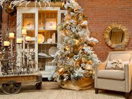 white tree with gold decorations decoration