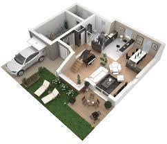 plan maison en u ouvert plan maison carrée
