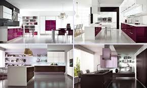Purple Kitchen Cabinets Modern Kitchen Color Schemes A Minimalist White Kitchen Island For Modern Kitchen Design With