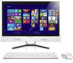 le de bureau tactile lenovo 57328282 c560 all in one 23 pouces hd non tactile blanc