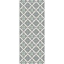 tapis de cuisine alinea tapis de cuisine 67x140cm bleu et blanc carosim 1 linge de