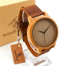 top bamboo watches for gifts round bamboo wristwatch for men and