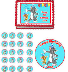 tom and jerry cake topper tom jerry edible cake topper cupcake image decoration birthday